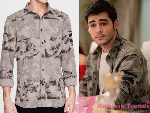 İstanbullu Gelin kıyafetleri 40 bölümde Murat'ın giydiği gri kamuflajlı gömlek ne marka? Mavi