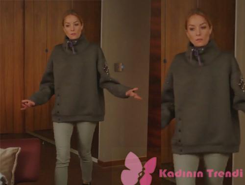 Ufak Tefek Cinayetler 24. Bölümde Pelin'in giydiği gri jean ve gri sweatshirt nerden?
