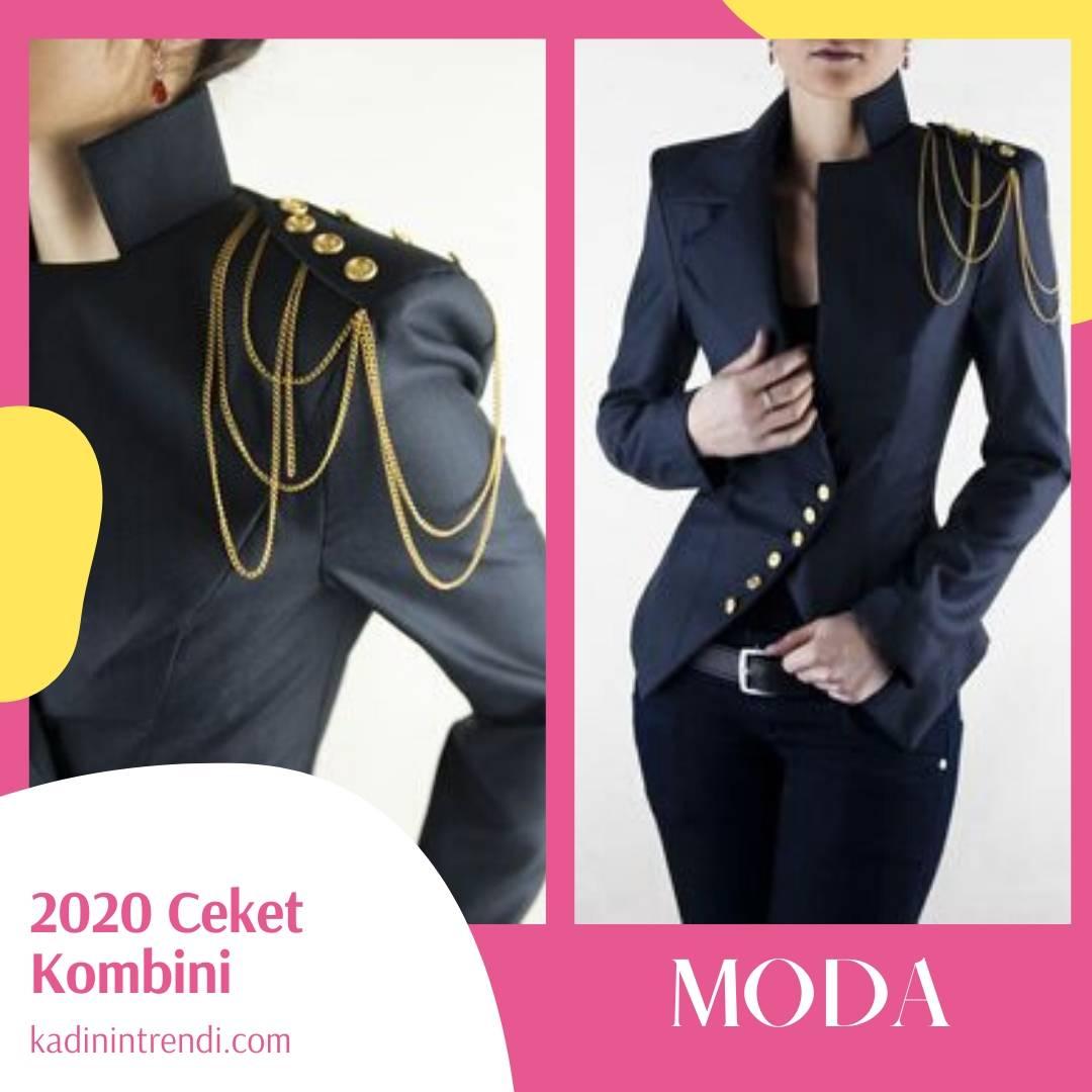 2020 ceket kombin önerileri Army Ceket modelleri