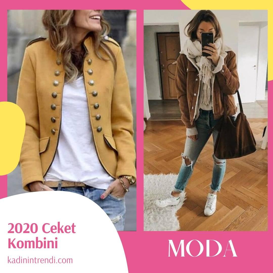 2020 ceket kombin önerileri haki kumaş ceket kombini