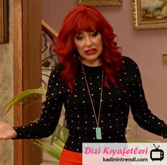 Jet Sosyete Dizi Kıyafetleri - Jet sosyete 17 bölümde gizemin giydiği siyah metal detaylı kazak nereden